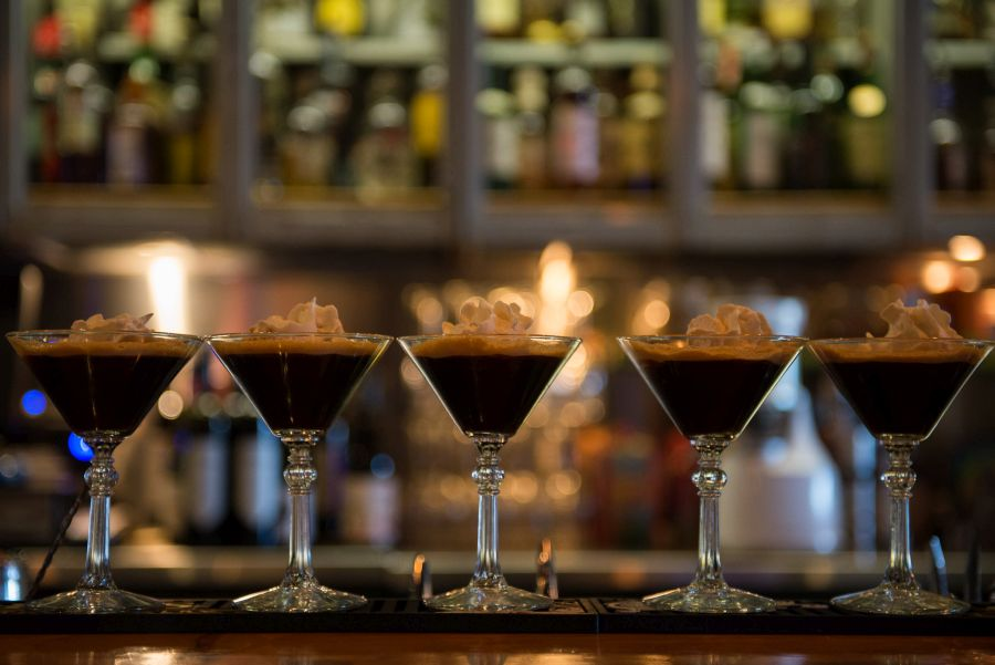 Espresso martinis ready to go