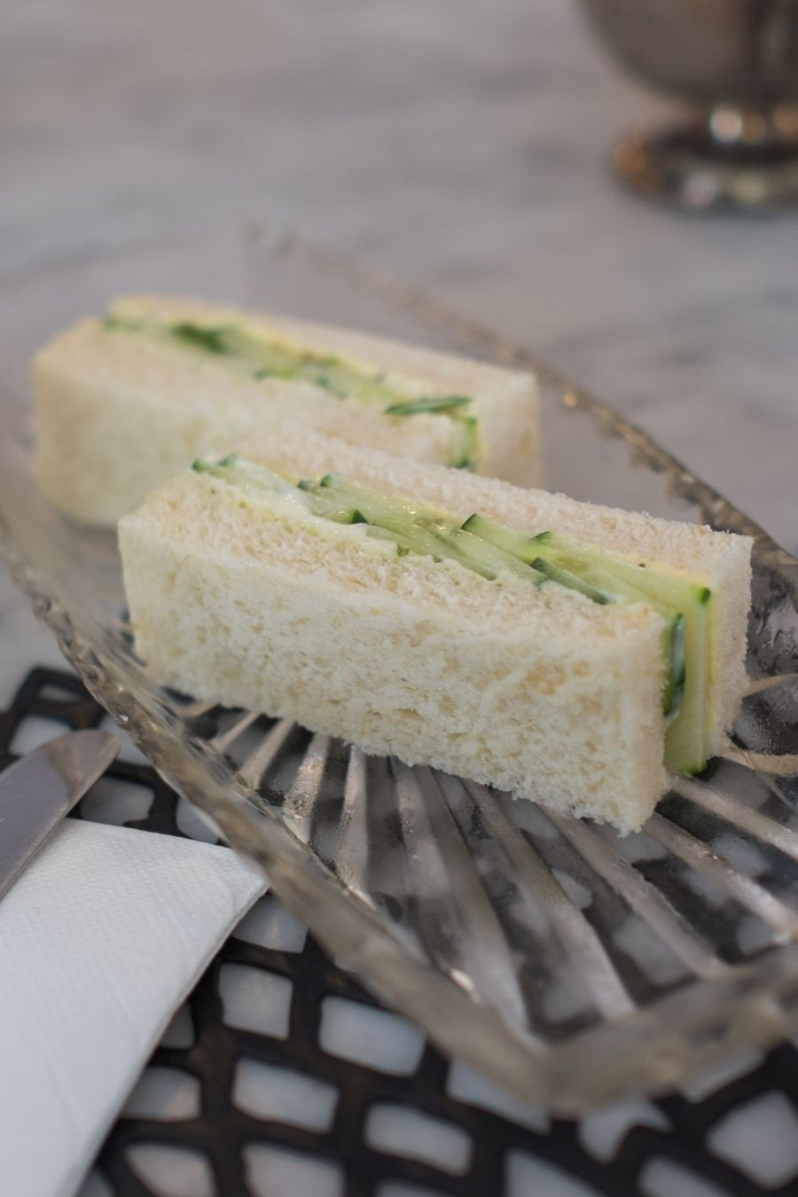 Cucumber and dill aioli sandwiches