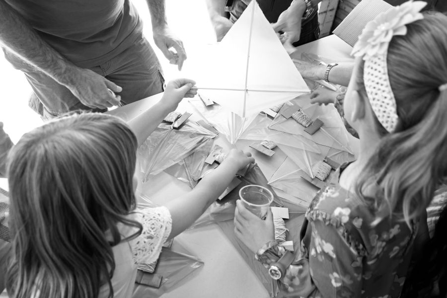Kite-making session