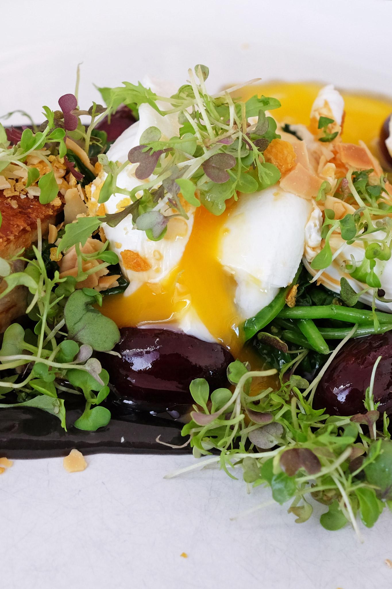 More runny egg yolk