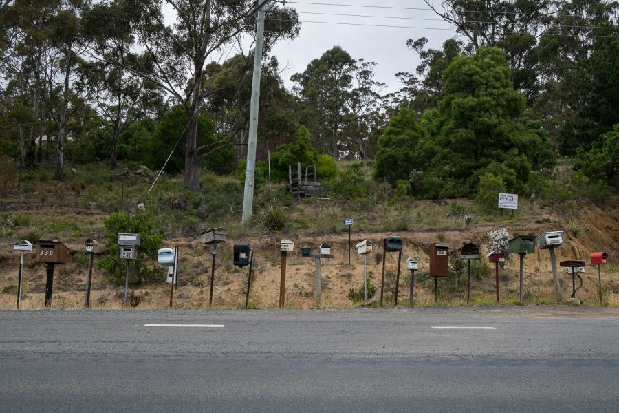 Bruny Island post boxes