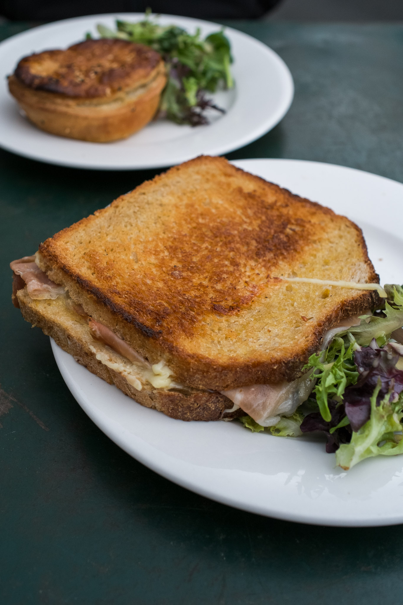 Ham and gruyere toasted sandwich