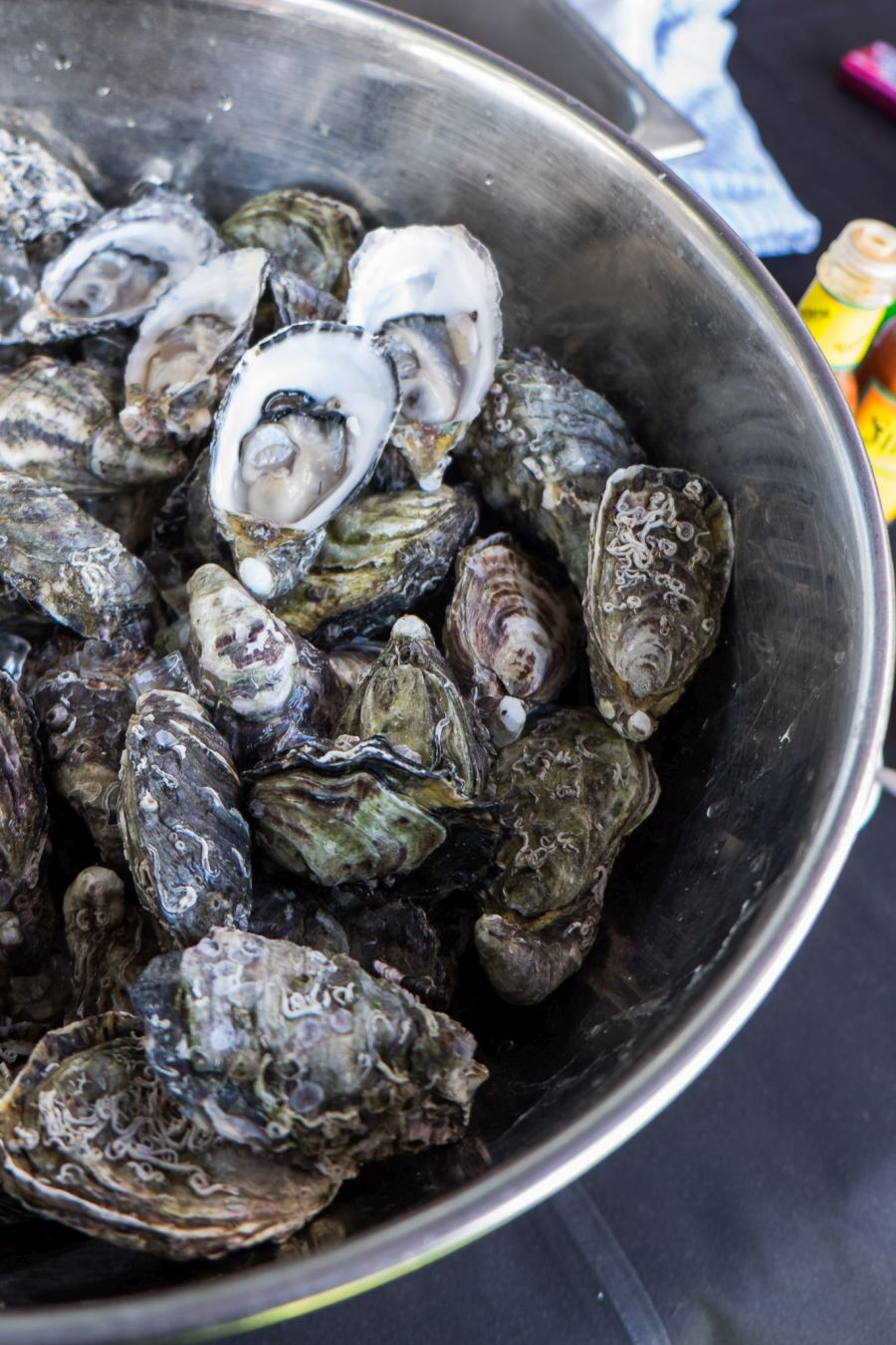 Coffin Bay oysters shucked by Jerry Fraser
