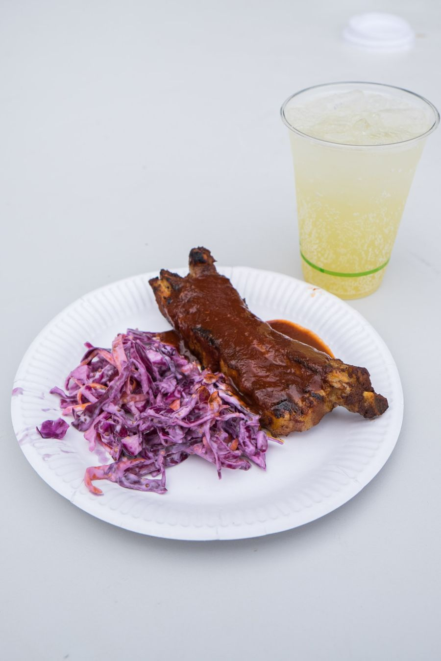 Boss Hoss BBQ Smokin' Ribs with coleslaw (AU$12)