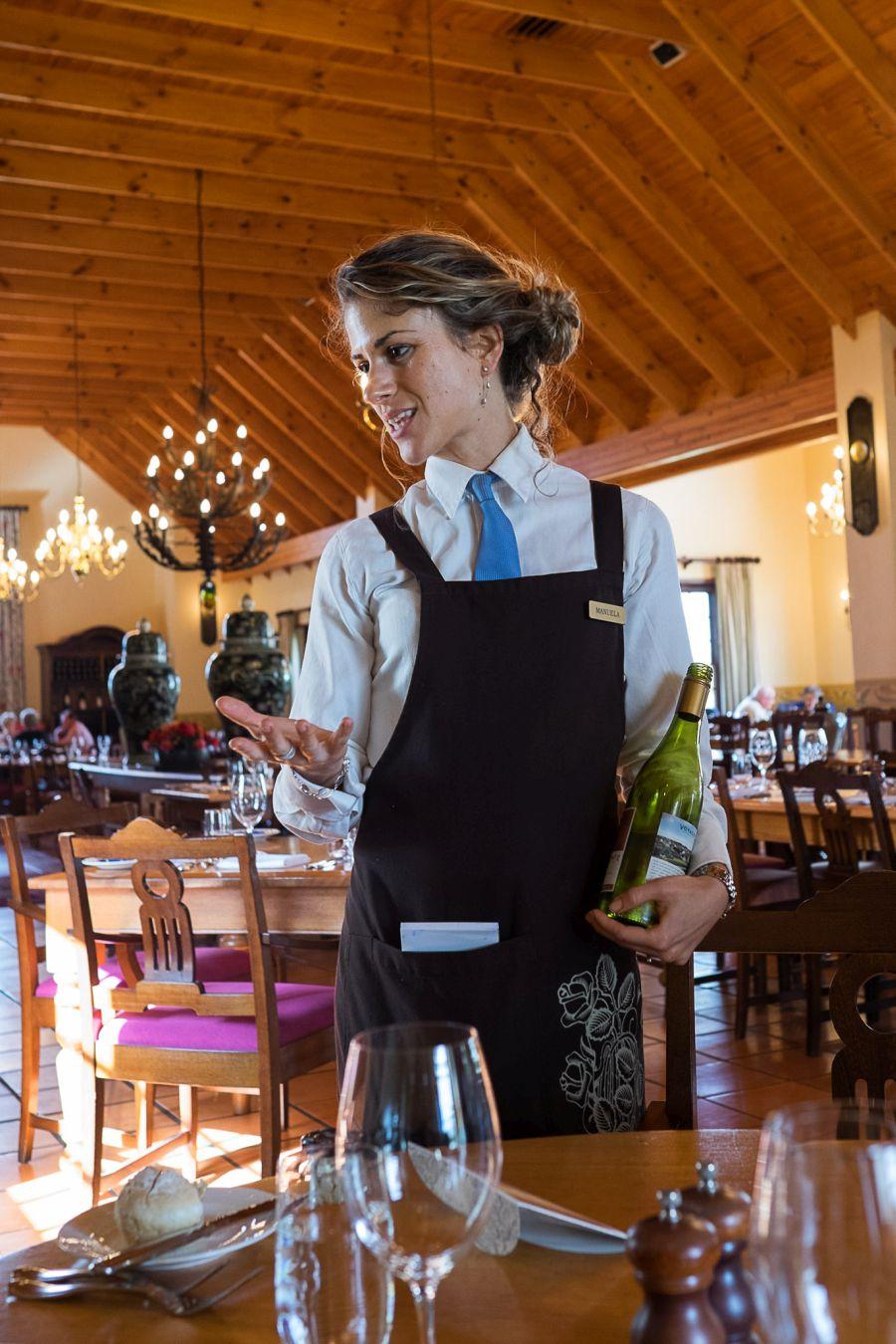 Our waiter Manuela