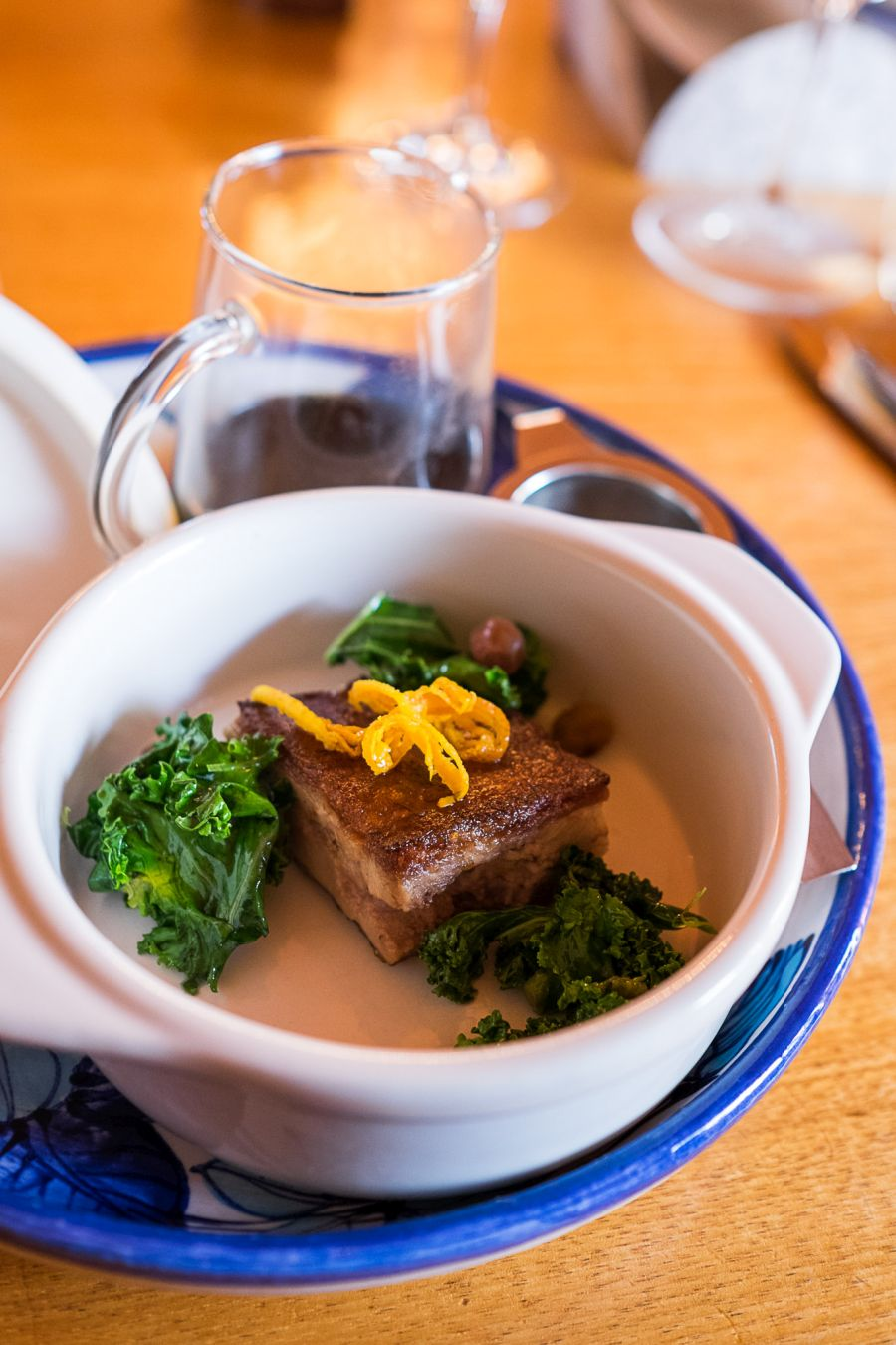 Crisp pressed duck confit, fragrant broth