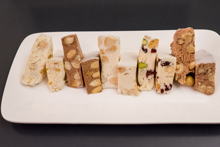 In our room was a nougat sampler which we happily munched through during our stay. Left to right: ginger and almond, coffee and almond, lemoncello and creme, cranberry and pistachio, chocolate and hazelnut