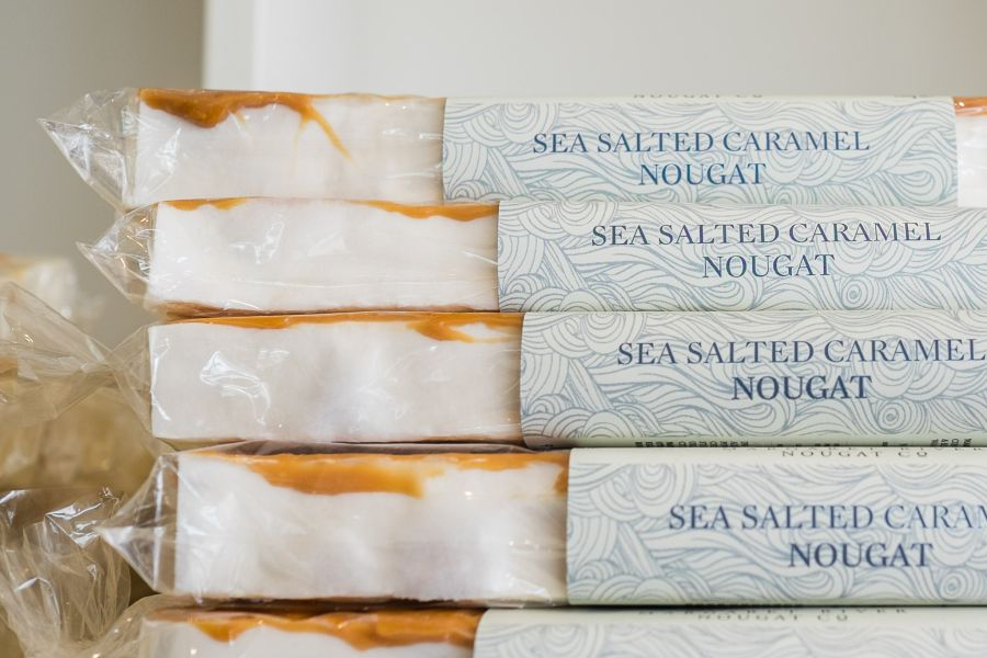 Sea salted caramel nougat