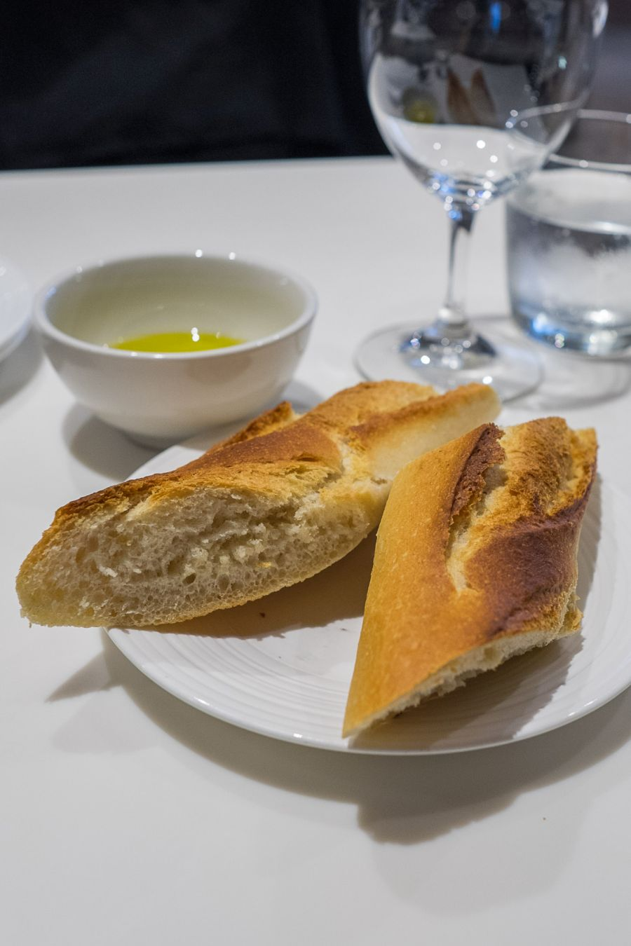 Baguette with olive oil (AU$2.50 per person)