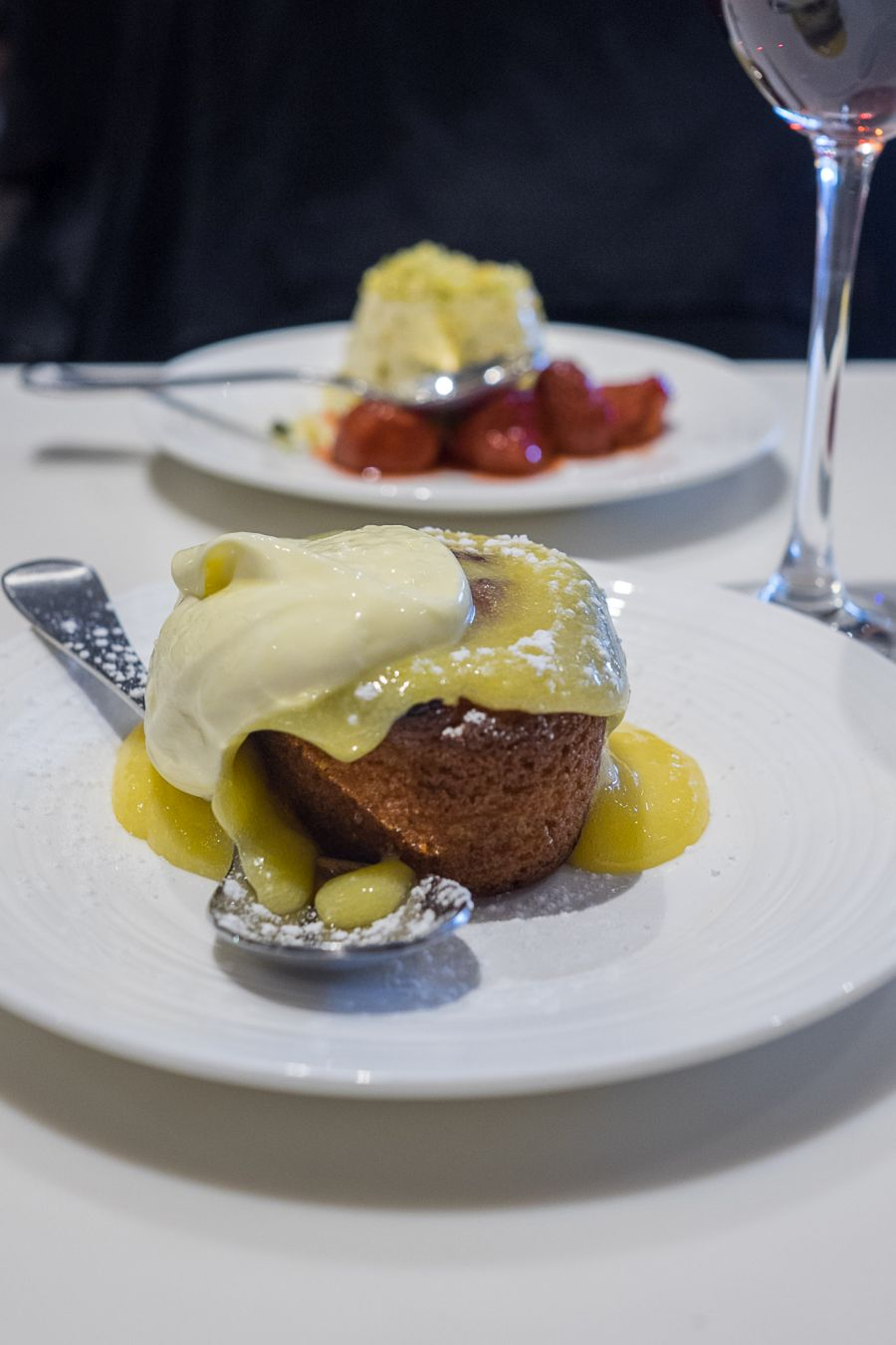 Warm ginger cake, lemon curd and cream (AU$9.50)