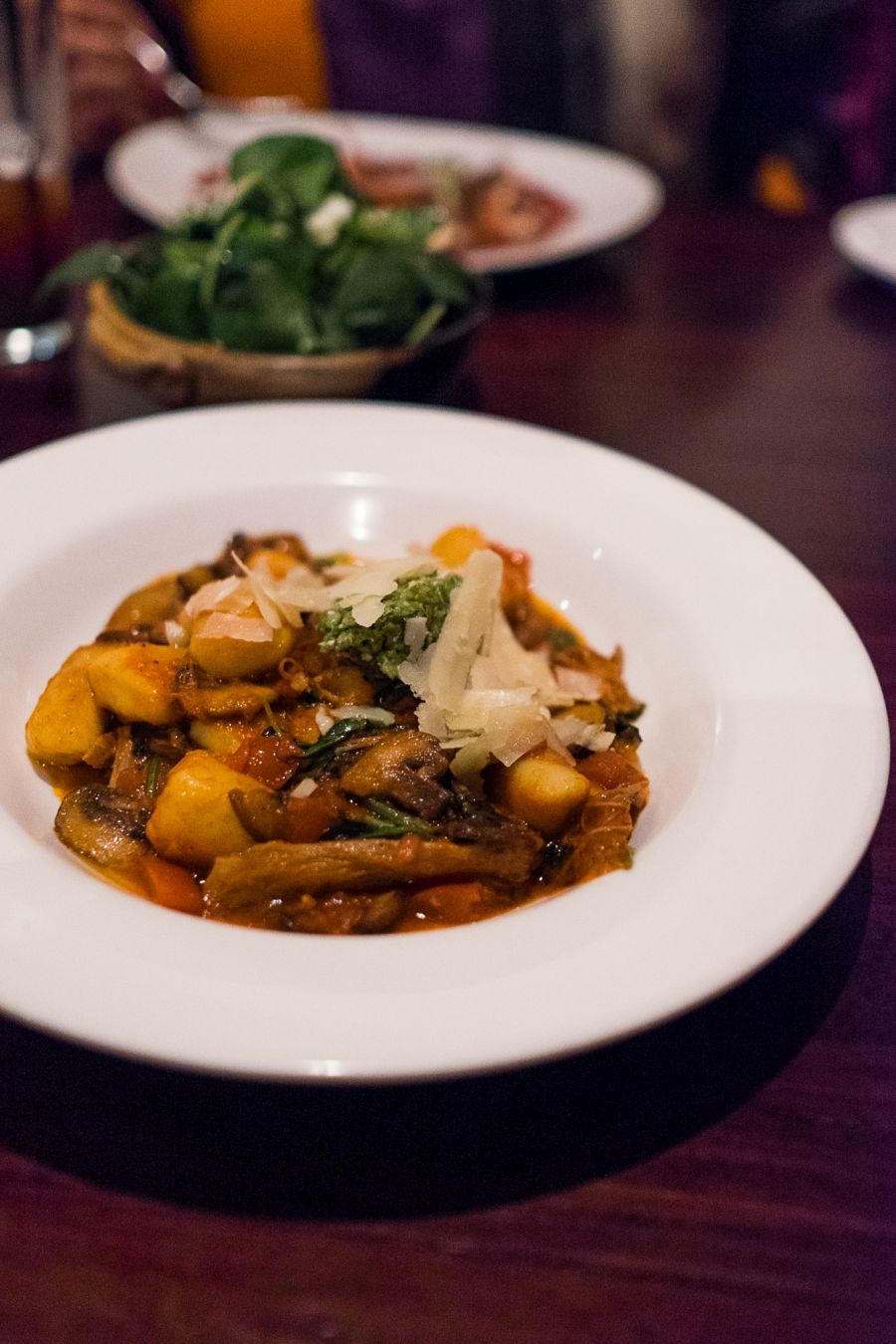 Gnocchi with Arkady lamb, mushrooms, tomato and chilli (AU$21/36)