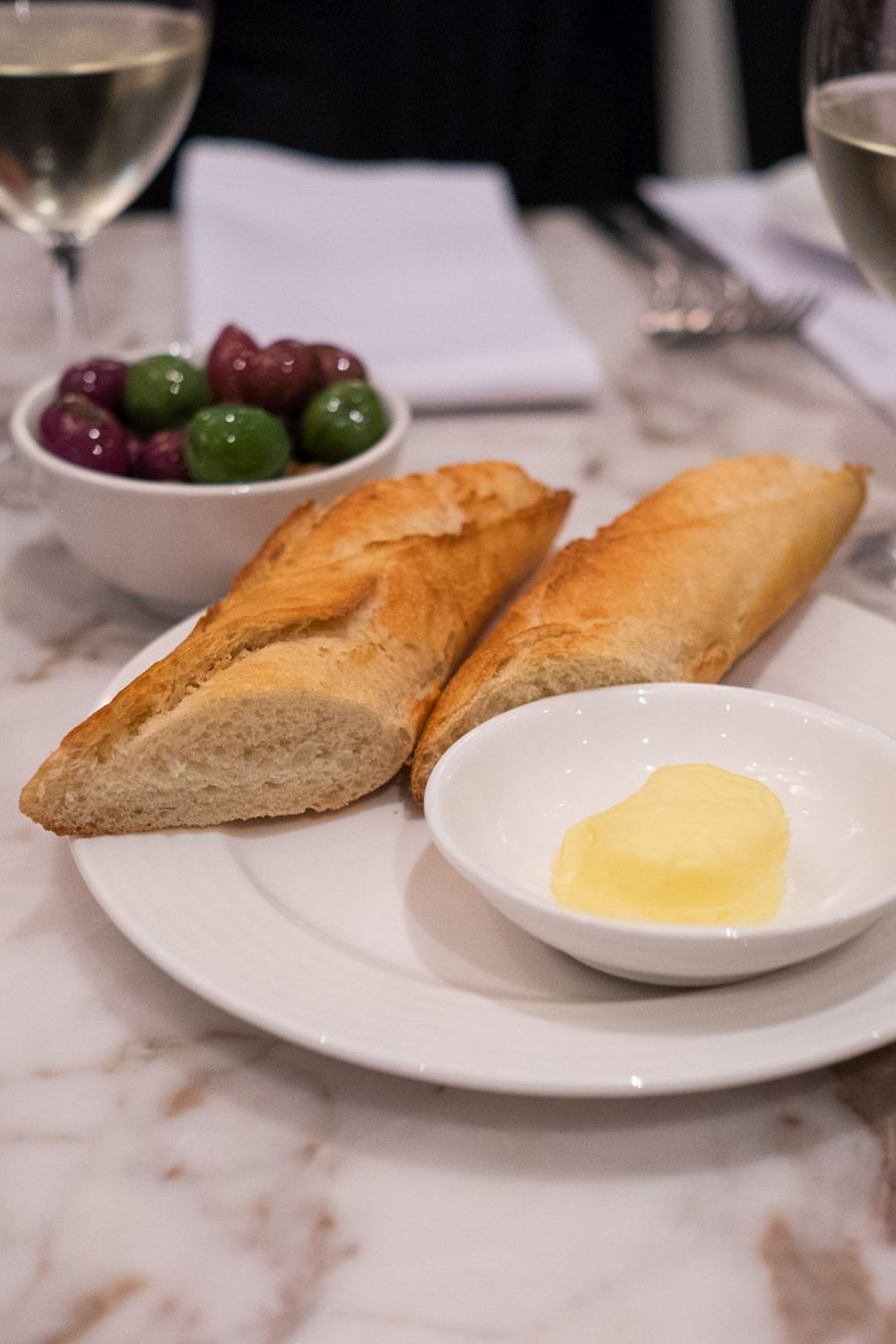 Baguette with French butter (AU$3.00 per person)