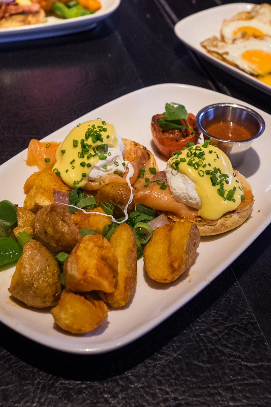 Smoked salmon Eggs Bennie (AU$18)