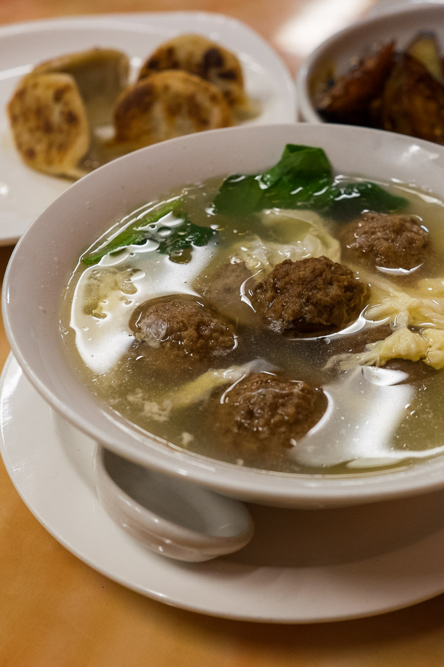 Spinach and meatball soup - as always!
