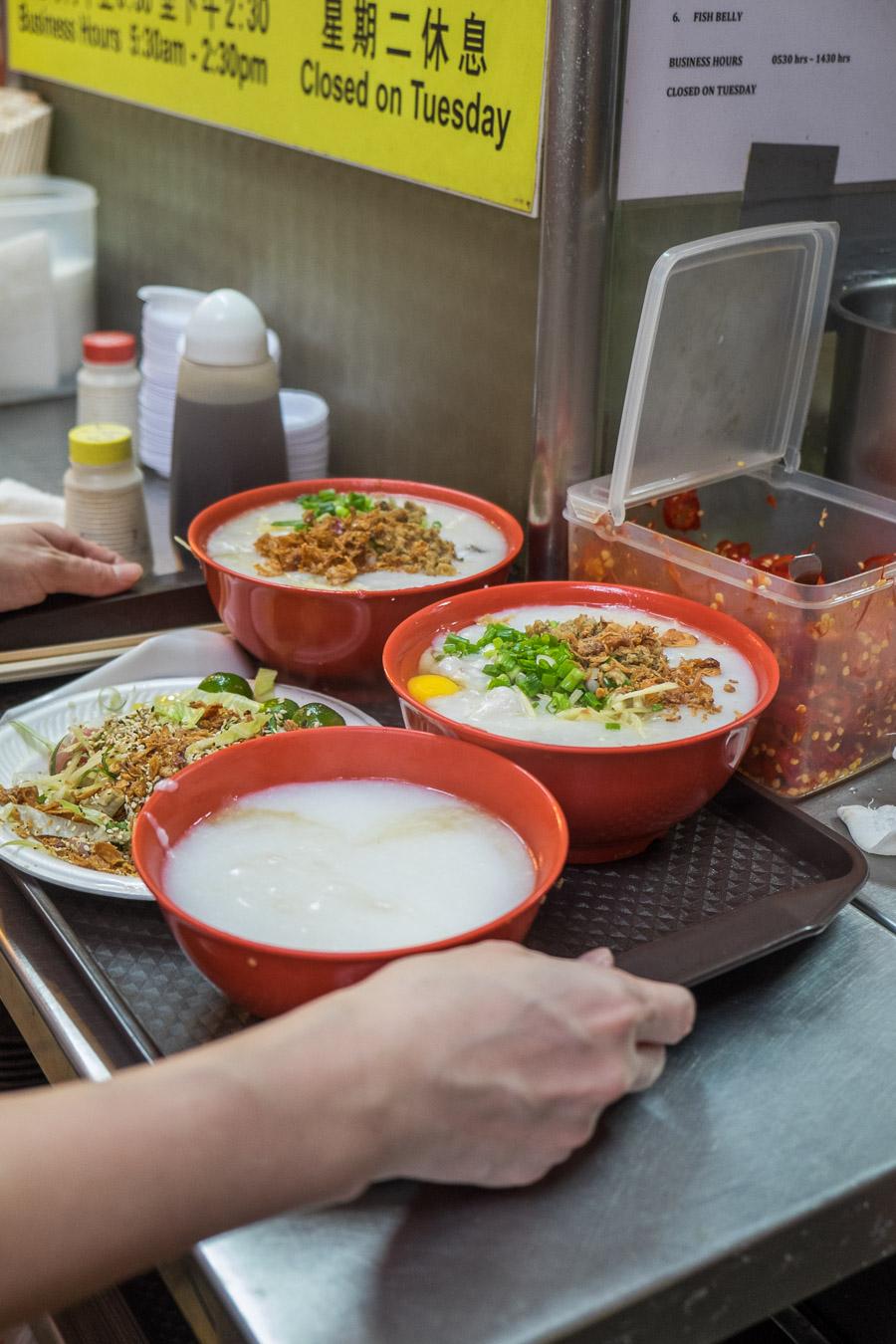 The standard order - porridge and yee sang
