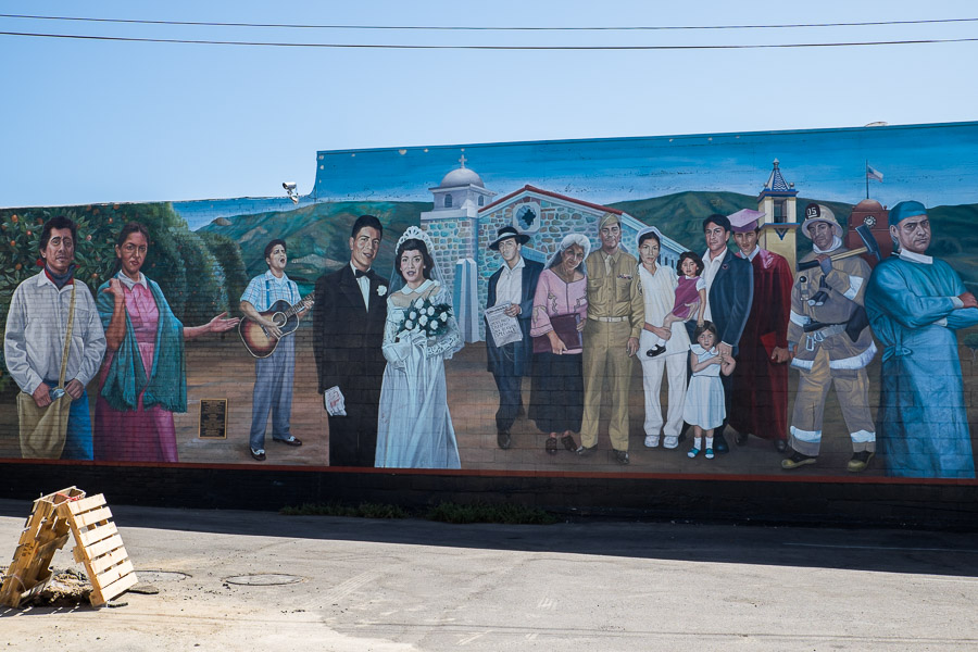 Celebrating Santa Paula's Latino Culture by Eloy Torrez, corner of Main & 10th Street -  Jose & Felisa Barcelona building.