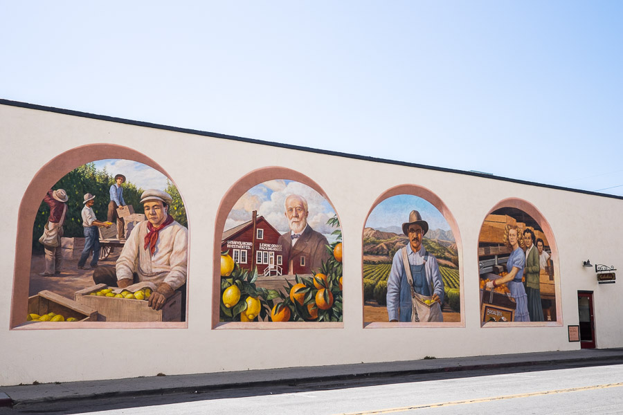 Santa Paula Citrus Capital of the World by Don Gray, assisted by Jared Gray, Corner Main and Davis Streets, Ray & Brenda Padgett building