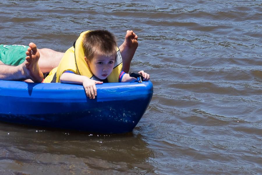 Kayaking is intense!