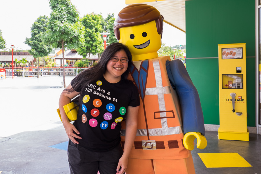 My favourite shot of the day of me and Emmet from the LEGO Movie