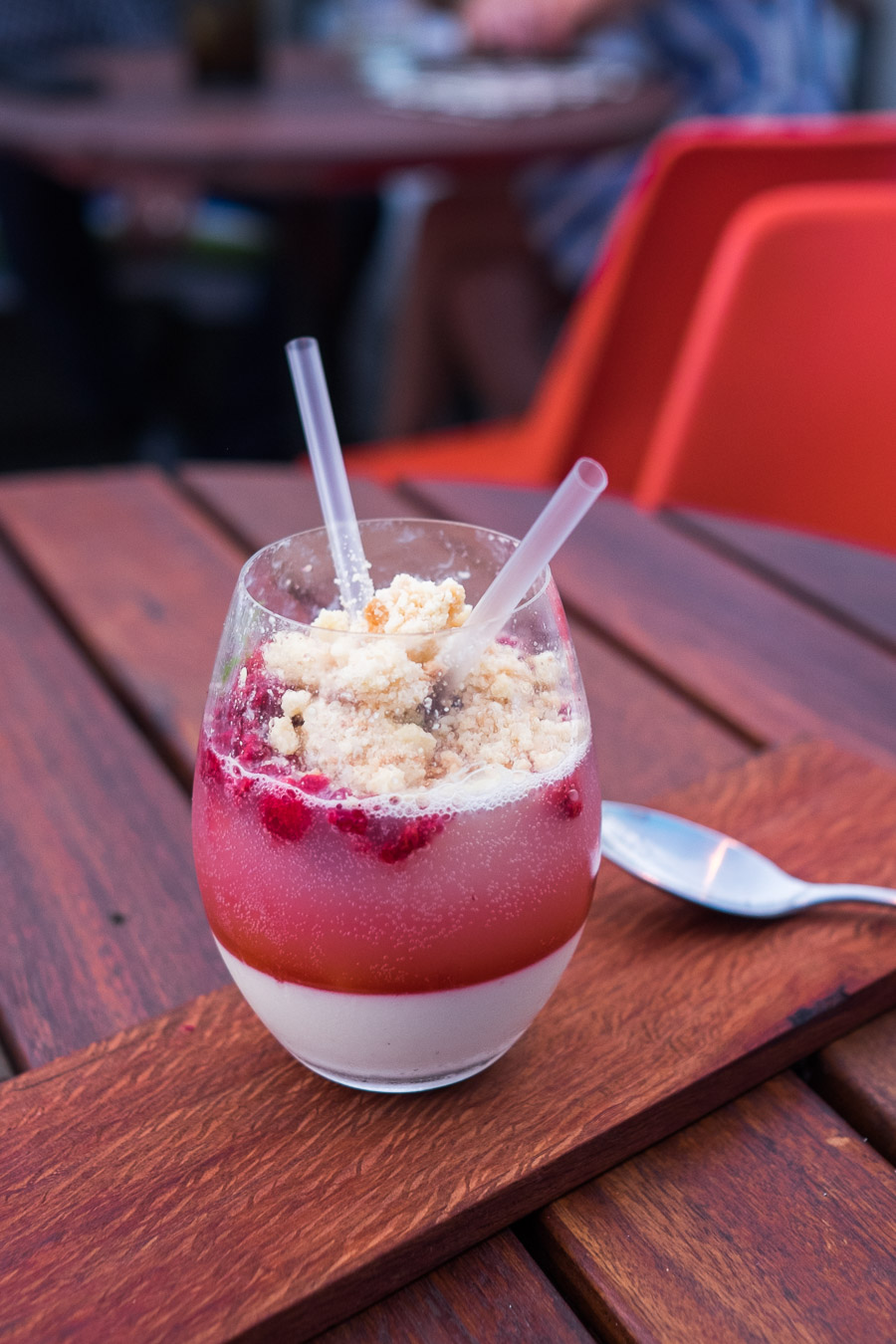 Vanilla panna cotta, strawberry and lemonade (AU$14)
