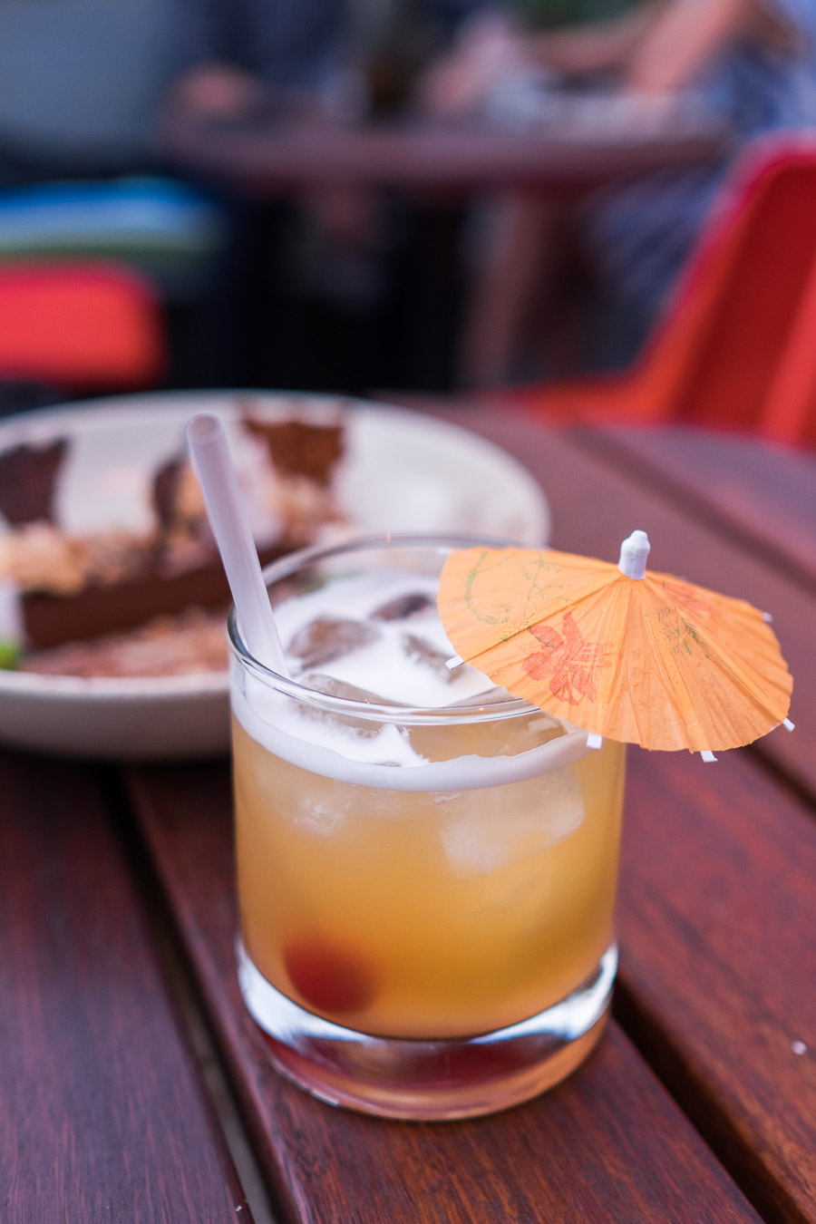 Sucker House Punch (single serving, AU$16) - Pampero rum, cognac, peach tea and tropical juice