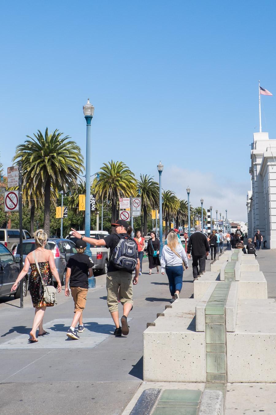Walking to Pier 39