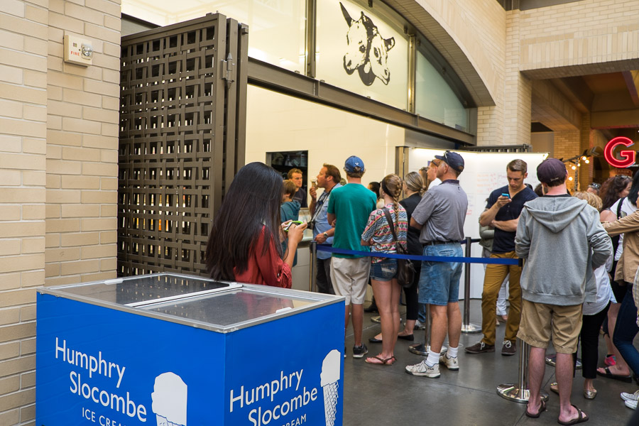 The line at Humphrey Slocombe, Ferry Terminal Building