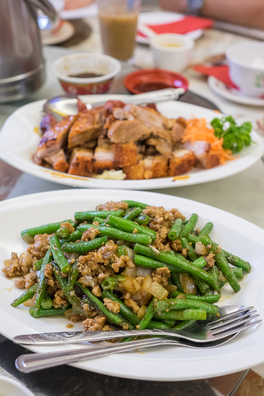 Green beans with pork mince (my favourite)