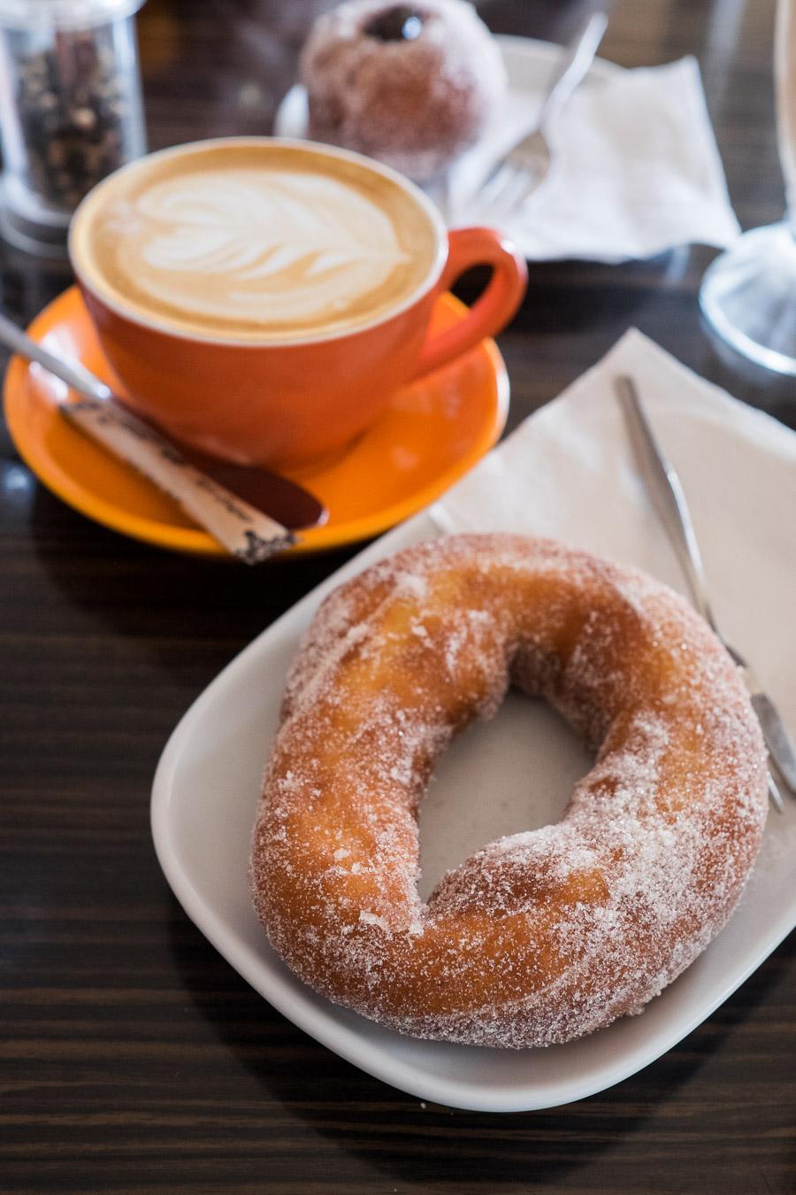 Doughnut and coffee