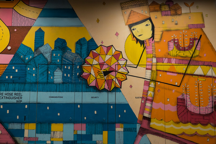 Railway Lane mural vy Kyle Hughes-Odgers and Benjamin Johnson