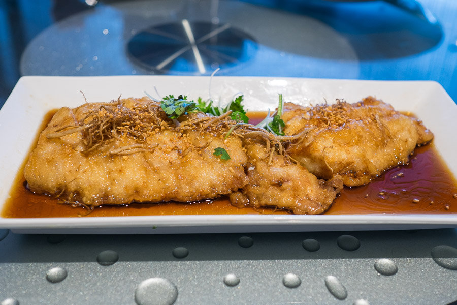 Fried cod in light soy sauce