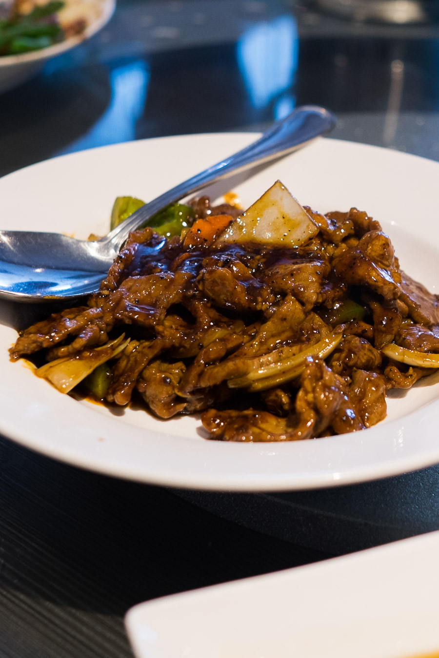 Honey pepper beef