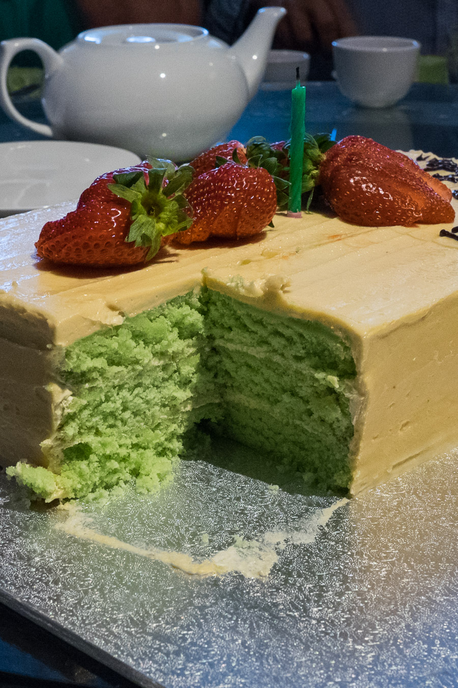 Love the green cake!