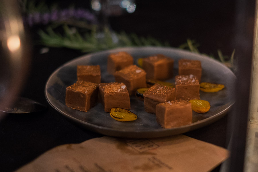 Petit fours - sandalwood fudge with sunrise limes
