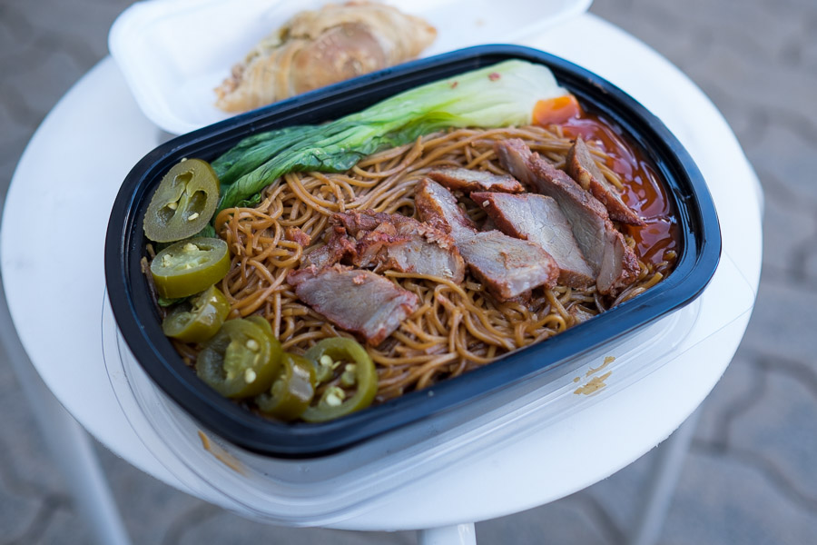 BBQ pork noodles from Pauly K's Kitchen
