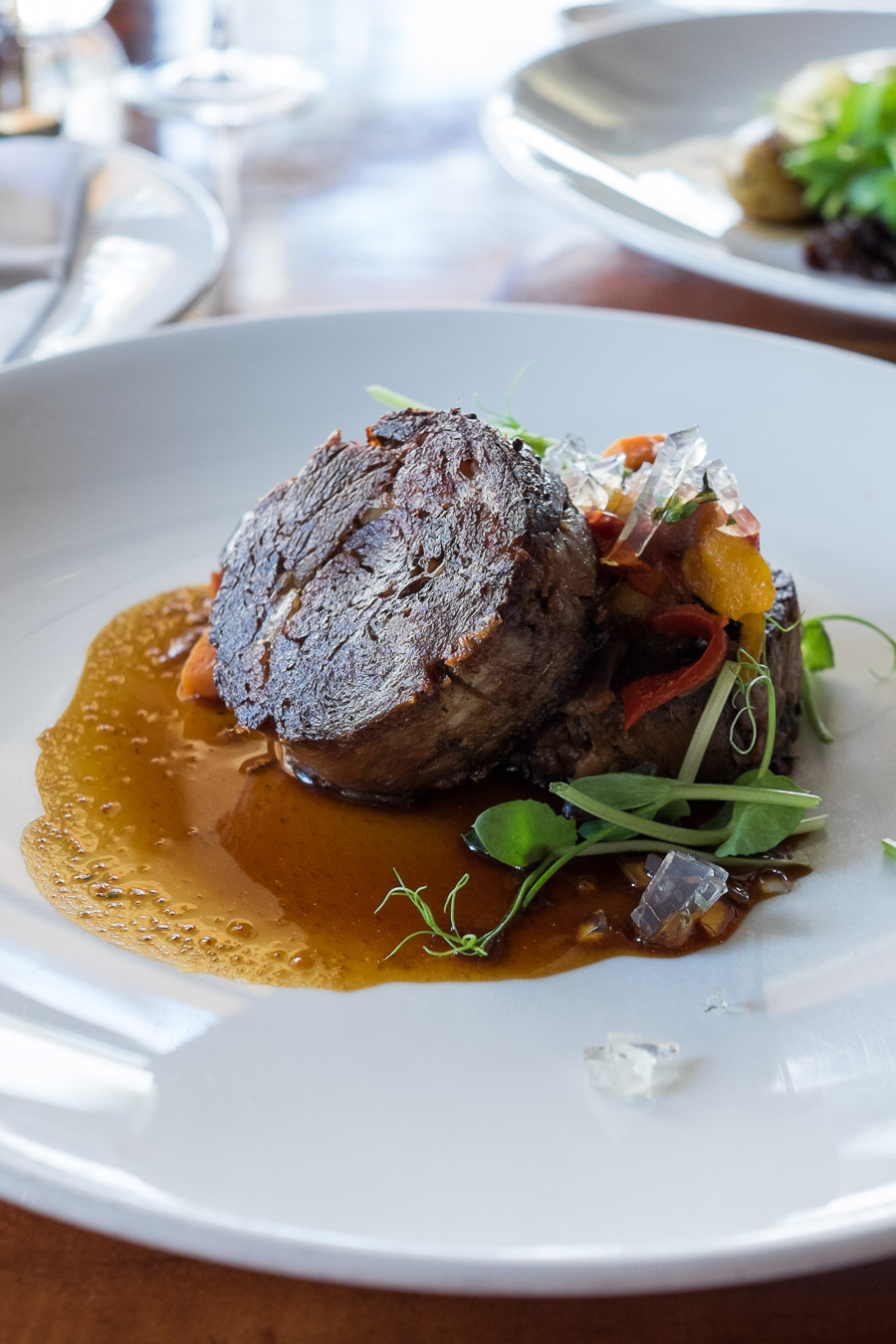 Avon Valley lamb (AU$44) - braised shoulder with eggplant caponata and river mint jelly.