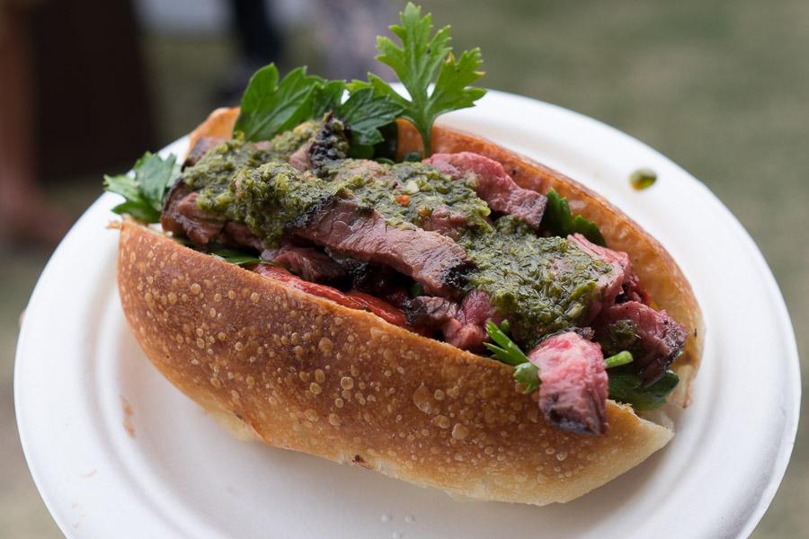 Asado: Lomito - BBQ'd rump cap, loose-leaf chimichurri, chipotle mayo and salsa criolla (8 crowns).