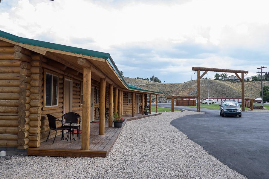 Each cabin had its own porch.
