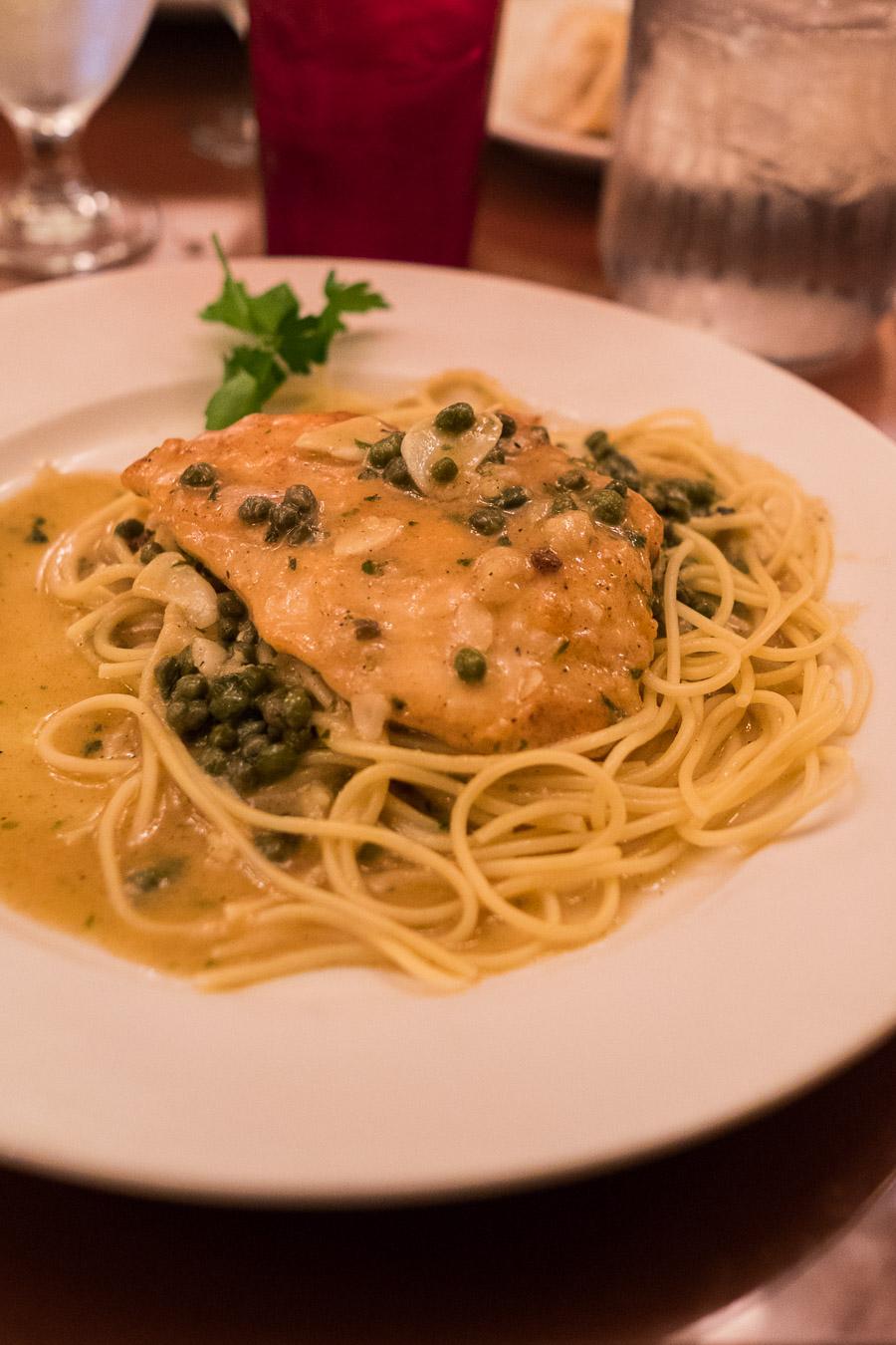 Chicken piccata (US$16.99), Adriano's Italian.