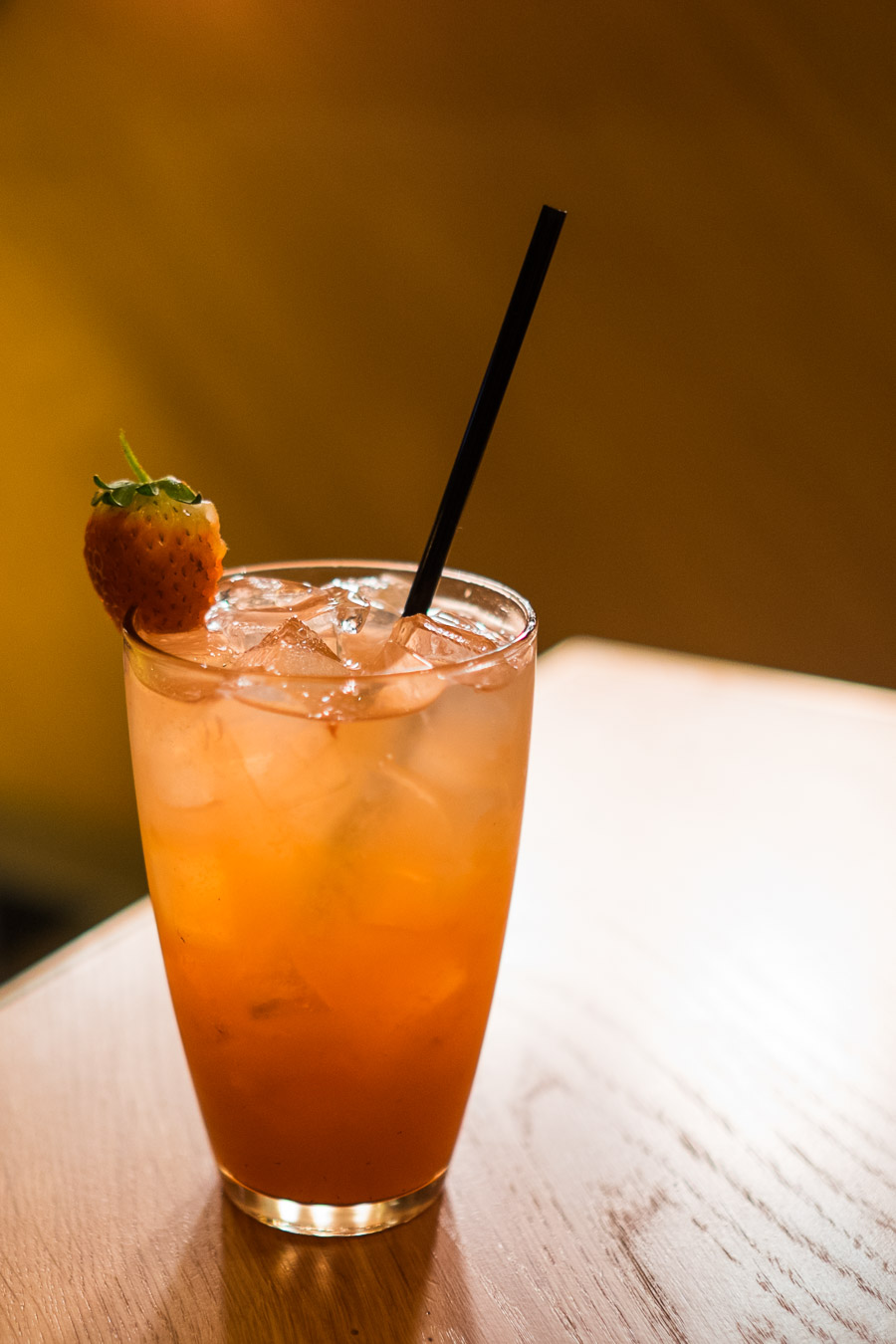 Soarin Strawberry Lemonade (non-alcoholic version $9.50) - cold pressed strawberry, fresh lemon juice and soda.
