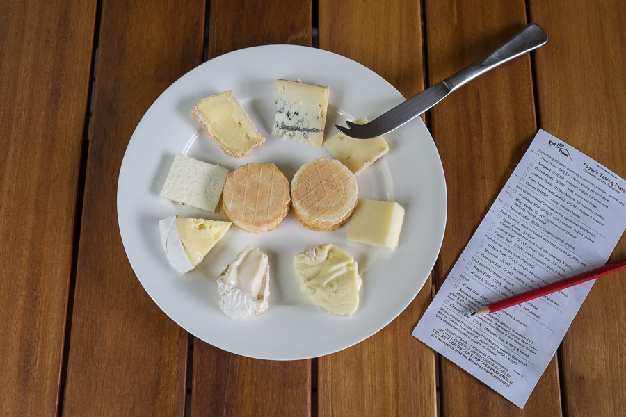 Cheese tasting plate ($10) at Red Hill Cheese