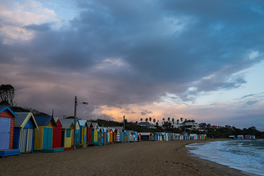 Beach boxes, Middle Brighton Beach