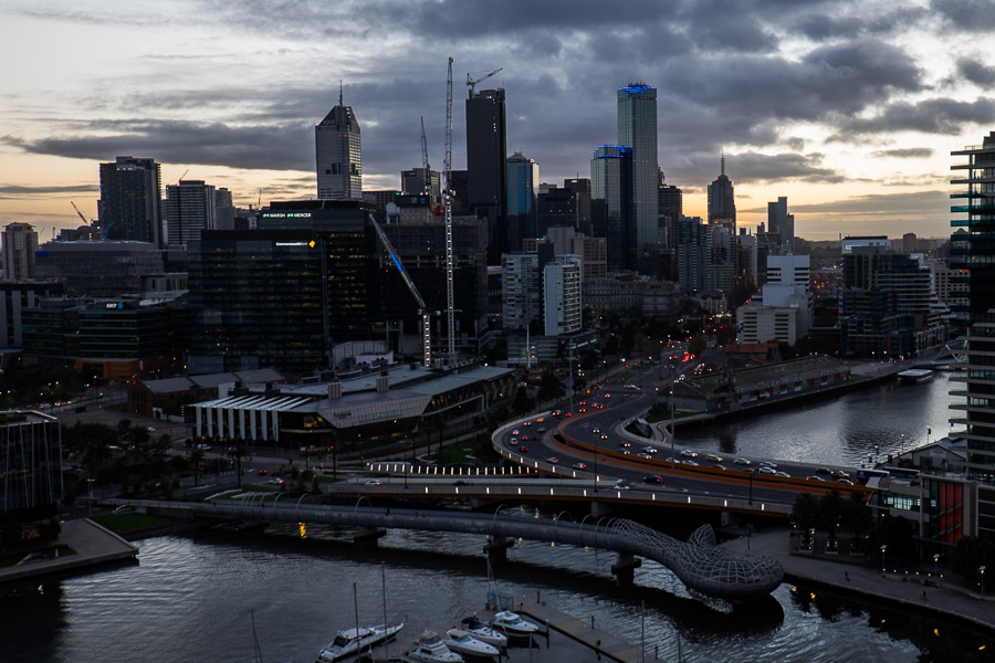 Early morning in Melbourne.