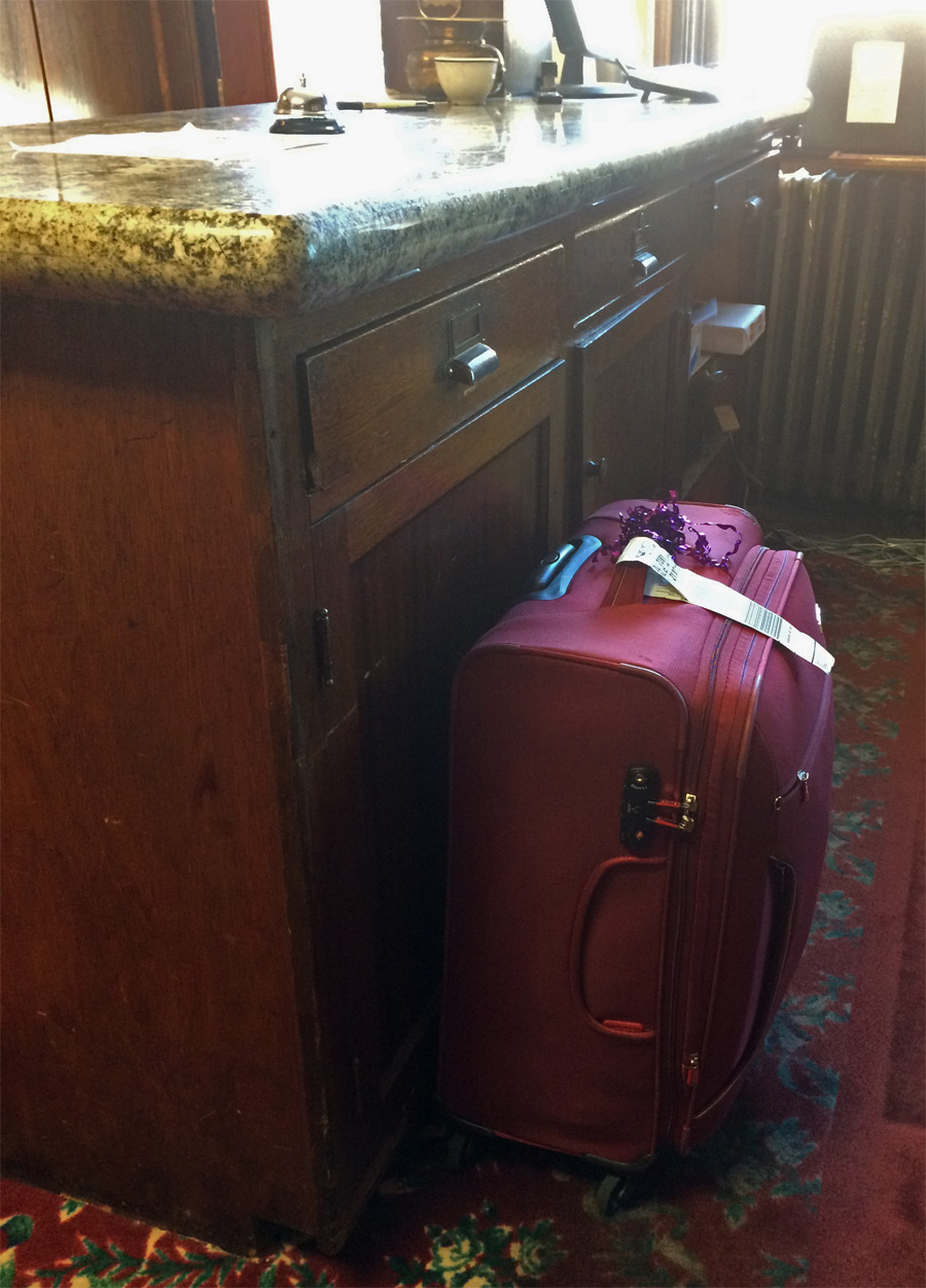 I was nervous leaving my suitcase behind the reception desk.