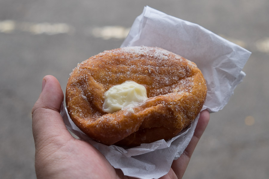 Malasadas (Portuguese doughnut) from Leonard's Bakery