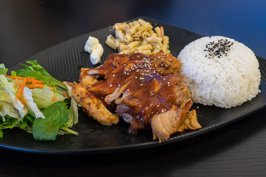 Huli Huli BBQ chicken and ribs combo ($17.90 plate)