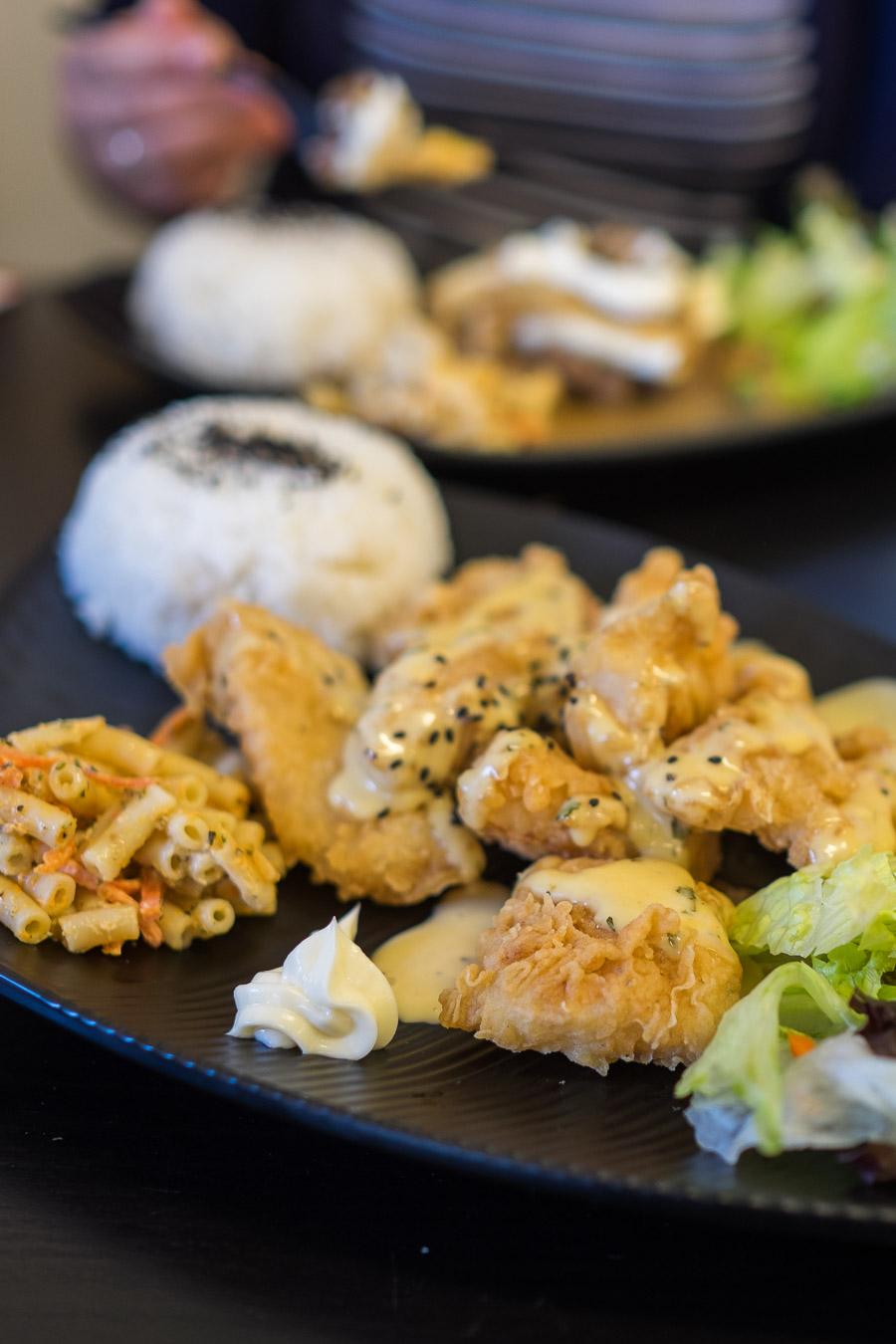 Creamy tarragon fish (AU$13.90 plate)