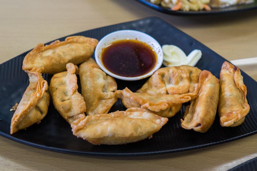 Pork dumplings special (AU$8)