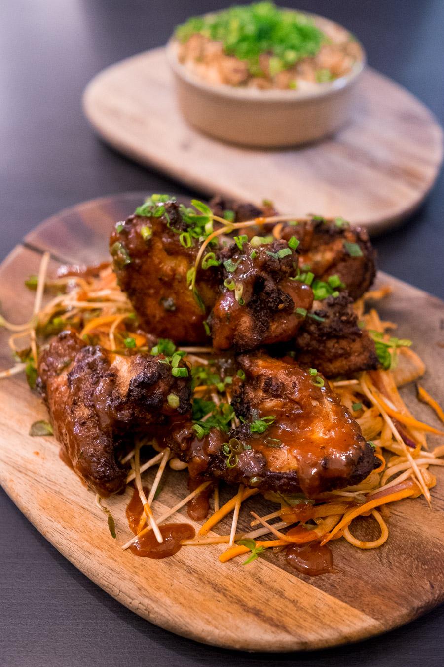 Korean-style crispy chicken, kimchi (AU$32)