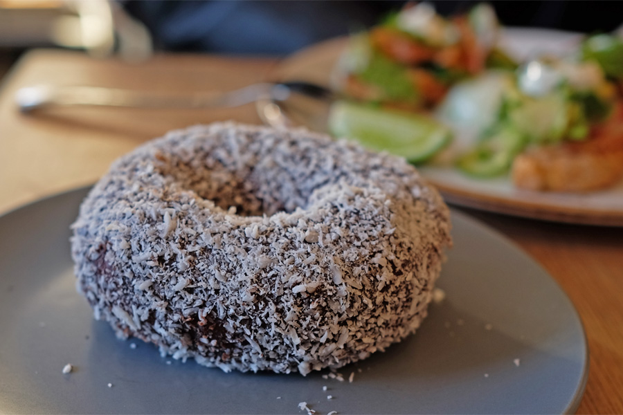 Lamington doughnut